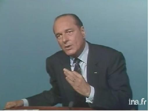 Jacques Chirac (capture INA, 1988)