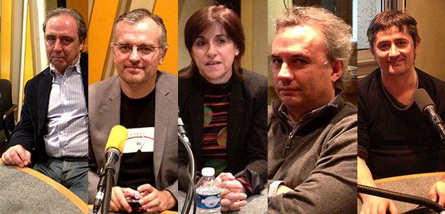 Massimo Nava, Philippe Couve, Mariette Darrigrand, Bruno Roger-Petit et Samuel Laurent