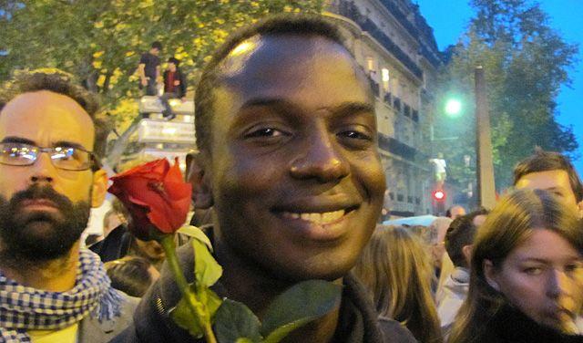 Ibrahim le soir du 6 mai place de la Bastille
