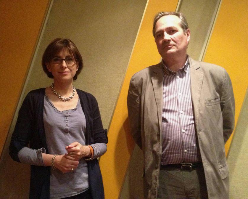 Nahida Nakad, directrice de la rédaction de France 24, et le sociologue Jean-Marie Charon