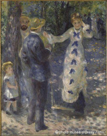 La balançoire (1876) de Auguste Renoir (1841-1919)