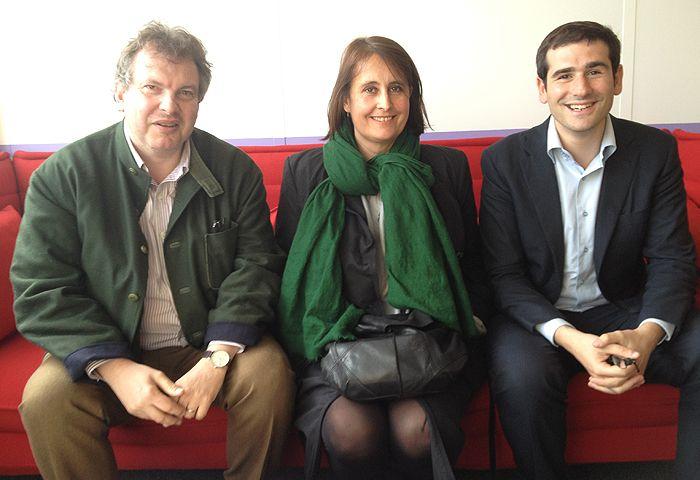Bertrand Delais, Florence Haegel et Benjamin Lancar