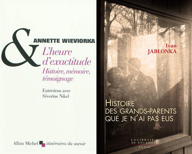 Couvertures des livres d' Annette Wieviorka  et  d'Ivan Jablonka