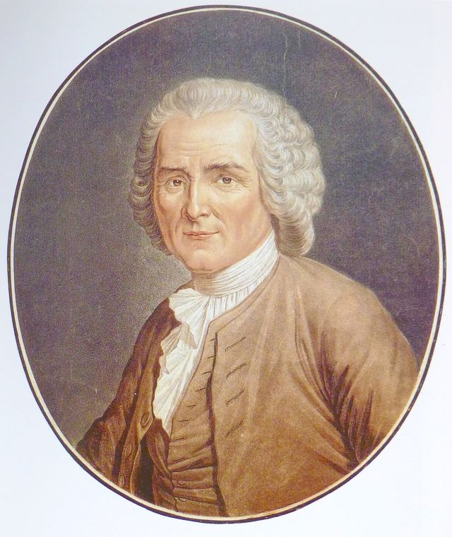 Portrait de Jean-Jacques Rousseau par Angélique Briceau - 1791