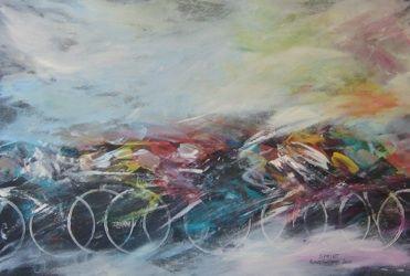 Un artiste à bicyclette - Sironi