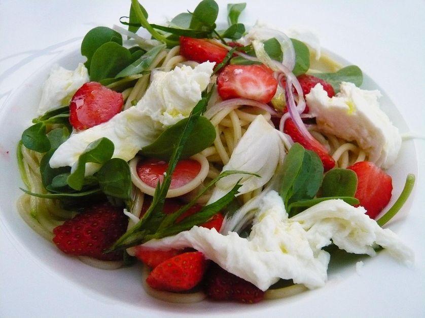 Spaghettis aux fraises