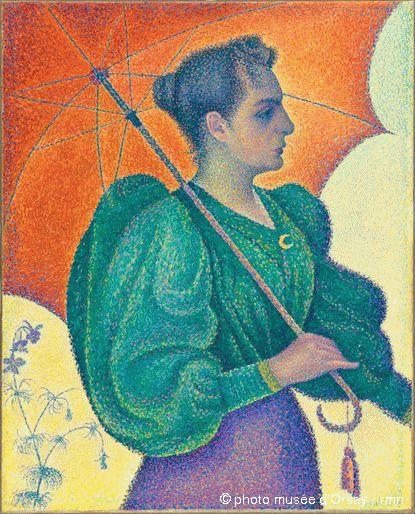 La femme à l'ombrelle de Paul Signac (1893)