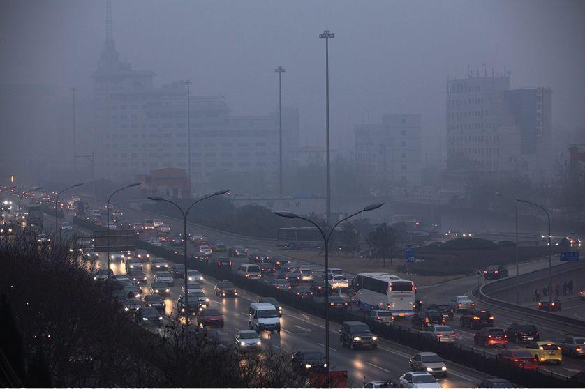 Pékin dans le brouillard en décembre 2011