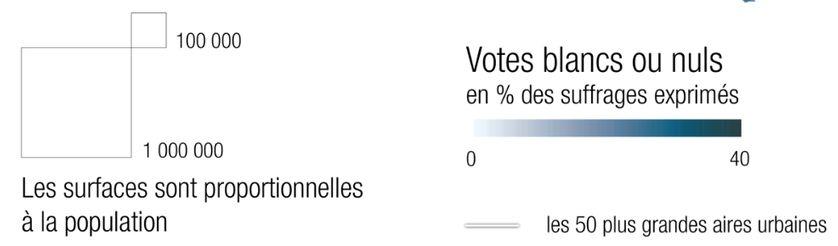 Légende vote blancs ou nuls en % des suffrags exprimés
