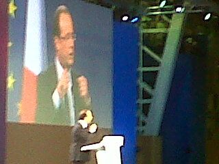 François Hollande au Bourget le 22 janvier 2012