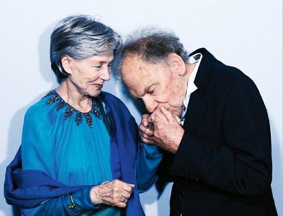 Jean-Louis Trintignant, Emmanuelle Riva, à Cannes