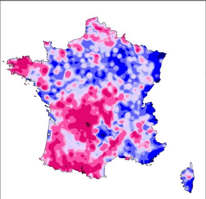 part des suffrages exprimés pour le candidat Hollande