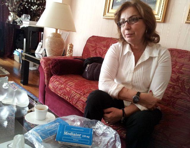 Fadia Chamchoum, l'une des victimes du Mediator