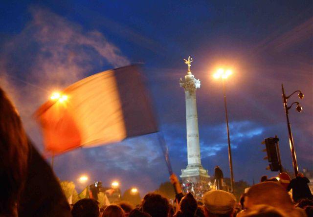 Place de la Bastille - 6 mai 2012