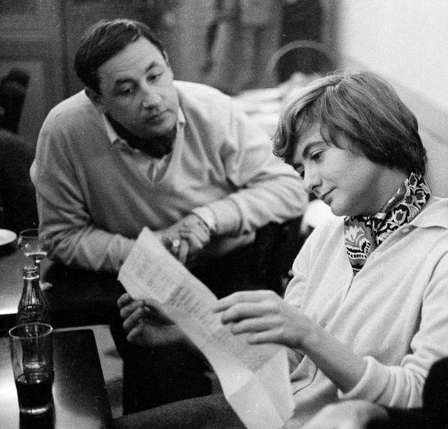 Philippe Noiret, Françoise Sagan en 1960