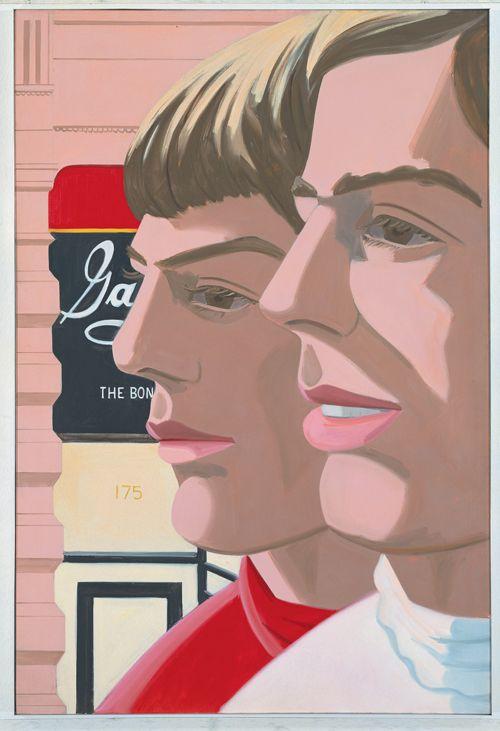 Alex Katz, Scott and John (Scott et John), 1966 (Huile sur toile, 182,9 x 121,9 cm) - Museum Frieder Burda,