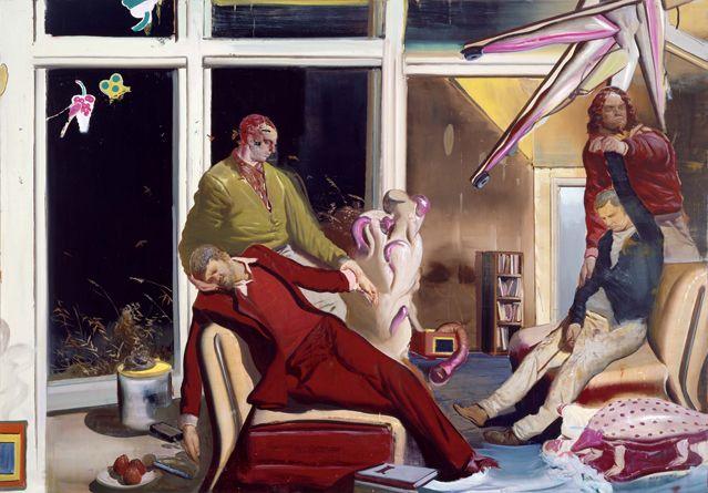 Neo Rauch (né en 1960), Interview, 2006 (Huile sur toile, 210 x 300 cm) - Musée Frieder Burda,