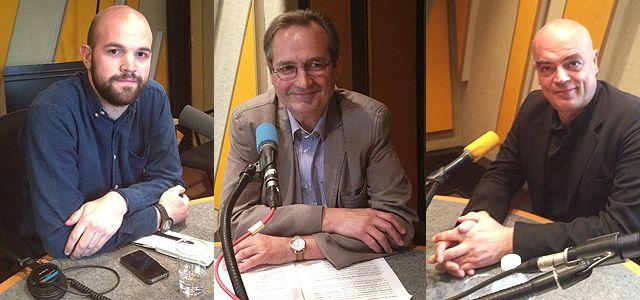 De gauche à droite : Olivier Tesquet, Jean-Marie Charon et Rémy Ourdan