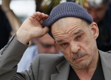 Denis Lavant, acteur fétiche de Leos Carax, au Festival de Cannes le 23 mai
