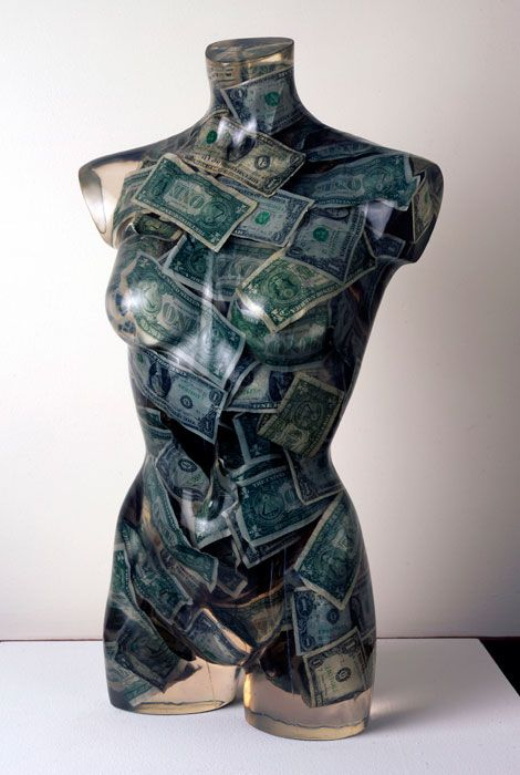 Arman, Vénus aux dollars, 1970