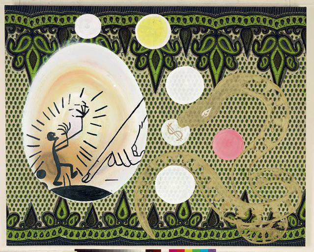 Sigmar Polke (1941-2010), $-Bild ($-Tableau), 1971 (Technique mixte, 120 x 150 cm) - Musée Frieder Burda,