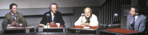 Jérôme Garcin, François-Régis Bastide, Michel Polac et Pierre Bouteiller
