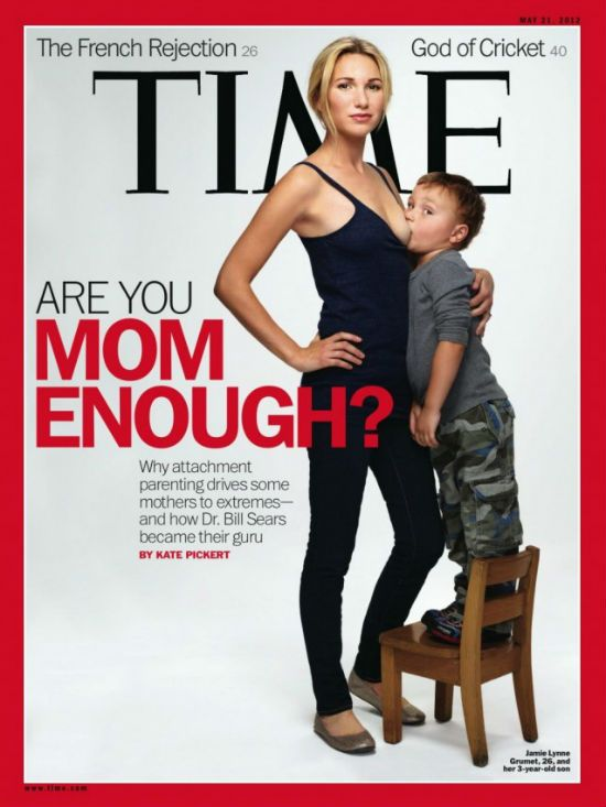 """Mom enough ?"" en une du ""Time"" Magazine"