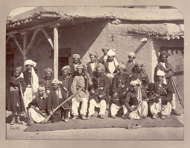 Policiers afghans à Kaboul en 1879
