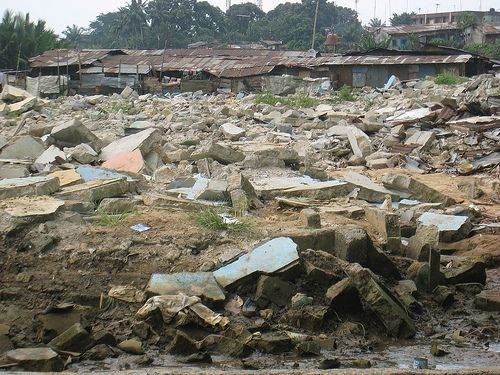 Débris attentat Nigeria