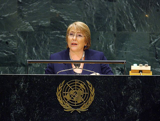 Michelle Bachelet, directrice exécutive d'ONU Femmes