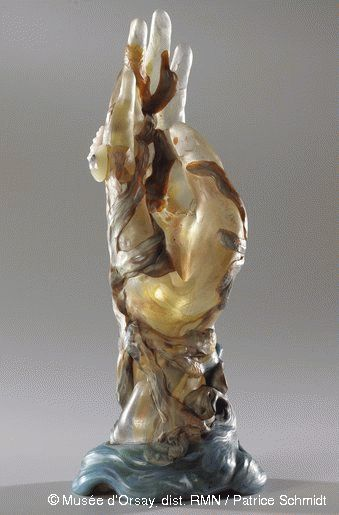 La main aux algues et aux coquillages de Émile Gallé