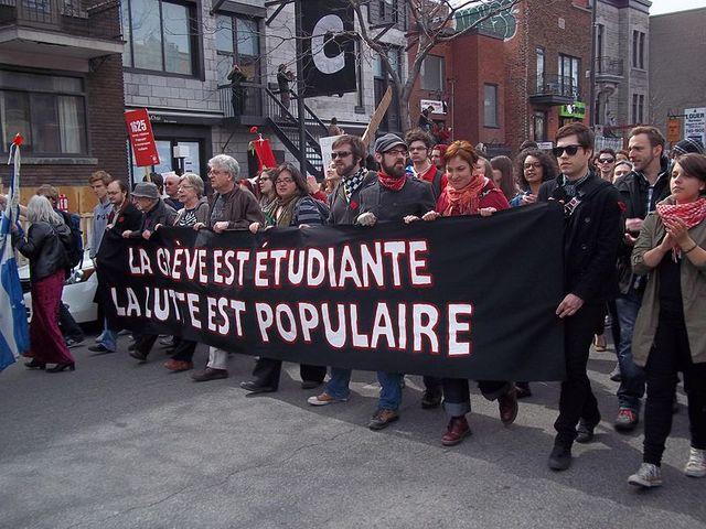 manif étudiante a Montreal