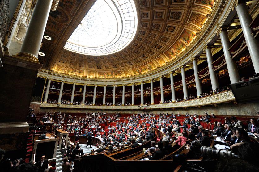 Dans l'hémicycle de l'Assemblée nationale