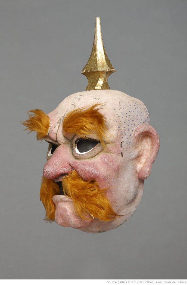 Otto Von Bismarck, masque pour Jules Ferry - compagniue Houdart-Heuclin, 1981