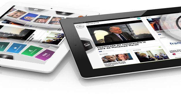 captures d'écran de l'application France 2012