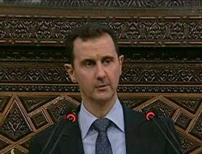 Bachar al-Assad lors de son discours