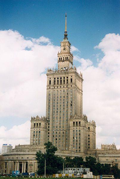 Le Palais de la Culture à Varsovie