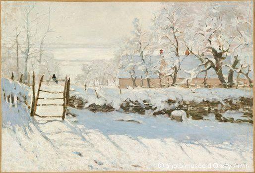 La pie (1868-1869) de Claude Monet (1840-1926)