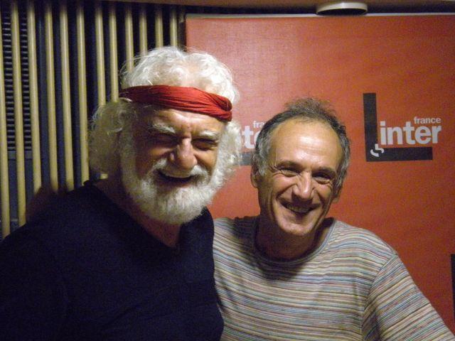 Daniel Herrero et Denis Cheissoux dans les studios de France Inter