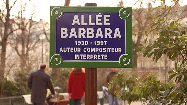 Allée Barbara square des Batignolles