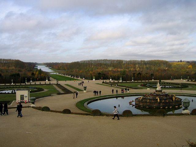 Vue partielle du parc de Versailles