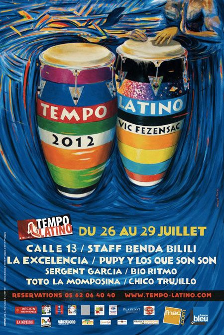 Affiche festival  Tempo Latino