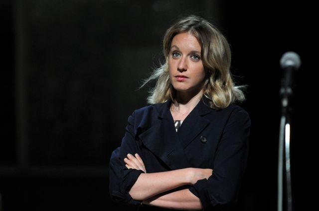 """Festival d'Avignon 2012. """"Nouveau roman"""" mis en scène par Christophe Honoré à la cour St Joseph. Ludivine Sagnier"""
