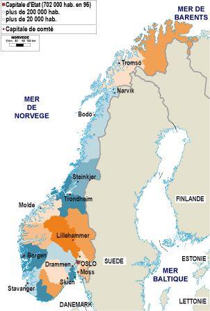 Norvège, carte administrative