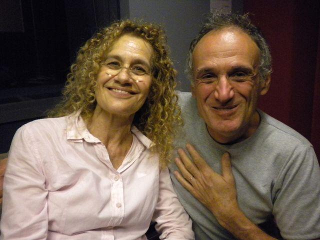 Marie-Claude Bomsel et Denis Cheissoux dans nos studios de France Inter