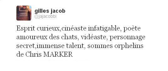 Tweet Gilles Jacob