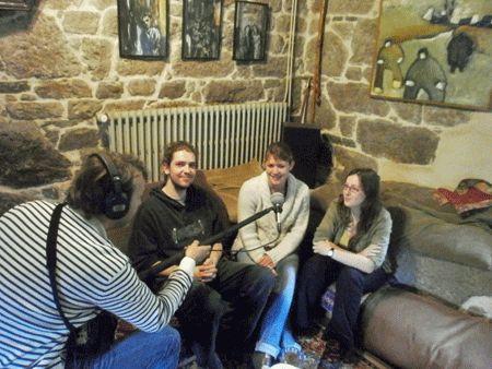 Joris, Pauline et Mona, étudiants