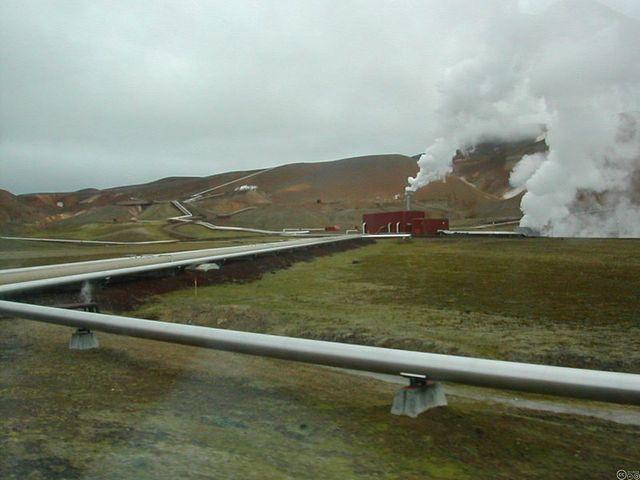 Une partie de l'usine géothermale du Krafla, en Islande.