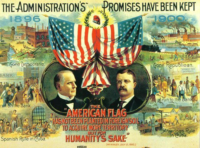 Affiche de la campagne républicaine de 1900 pour l'élection présidentielle américaine