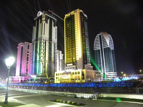 Grozny by night, 11 septembre 2011